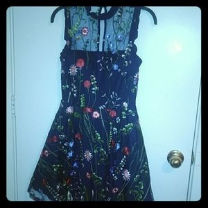 Blue Floral Homecoming dress